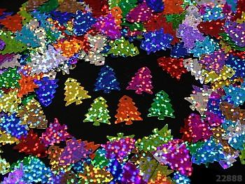 Flitry hologramové stromečky MIX, bal. 4g