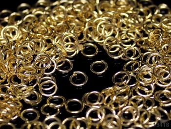 Bižu kroužky jednoduché  5/0.6mm ZLATÉ, bal. 2,5g