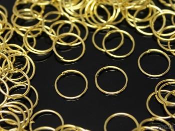 Bižu kroužky jednoduché  10/0.7mm ZLATÉ, bal. 9g