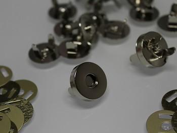 Magnetické zapínání kulaté chrom 18mm