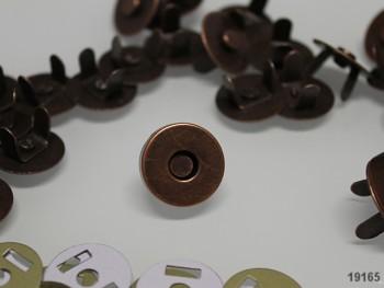 Magnetické zapínání kulaté MĚĎ 18mm