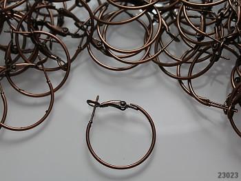 Náušnicové kroužky 25mm měděné, bal. 4ks