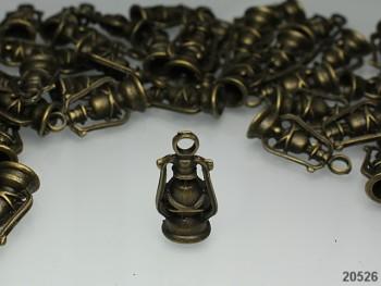 3D Přívěšek bronzový LAMPA, bal. 2ks