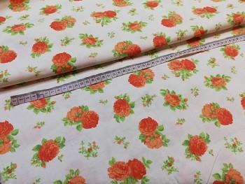 Látka bavlna růže patchwork