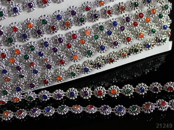 Borta / barevné kamínky STŘÍBRNÁ á 10cm