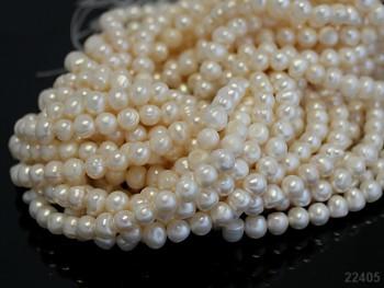 Přírodní říční perly 7/8mm, bal. 5ks