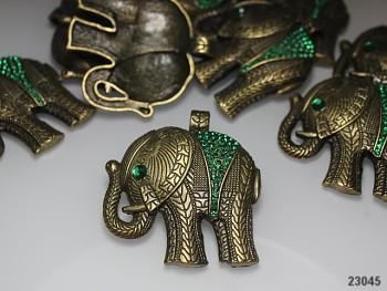 Exklusivní přívěsek bronz obří slon s kamínky