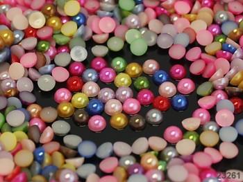 Kabošonky perleťové 2mm MIX, bal. 1g
