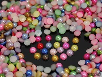 Kabošonky perleťové 3mm MIX, bal. 2g