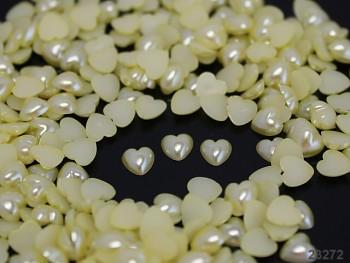 Kabošonky srdce perleť 4mm, bal. 1g