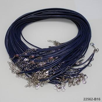 Šňůrka vosk. náhrdelník TM.MODRÁ, 1ks