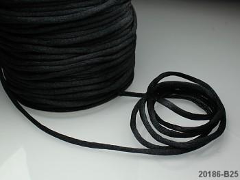 Saténová šňůrka 2mm ČERNÁ