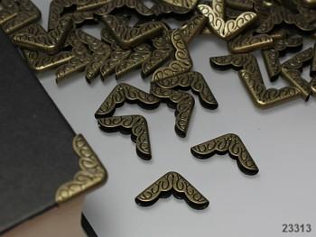 Kovové rohy 16mm bronzové, bal. 10ks