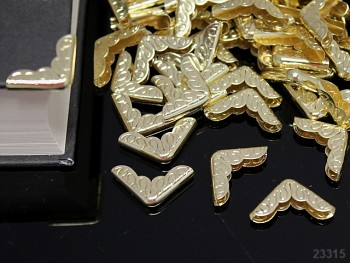 Kovové rohy 16mm zlaté, bal. 10ks