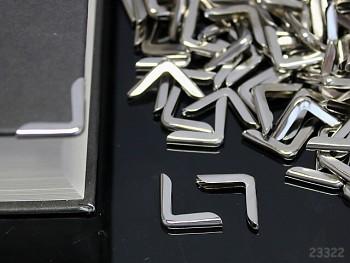Kovové rohy 15mm platinové, bal. 10ks