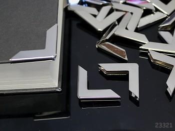 Kovové rohy 30mm platinové, bal. 4ks