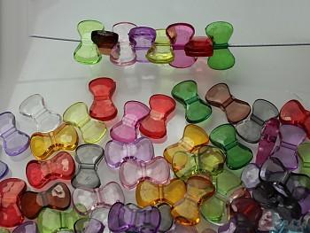 Pestrobarevný MIX korálky farfale 16/10 bal. 10ks