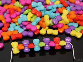 Pestrobarevný MIX korálky farfale 16/8 bal. 15ks