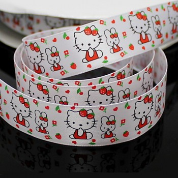 Stuha s HELLO KITTY 22mm,  á 1m