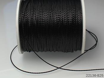 Lurexová šňůrka 1mm ČERNÁ