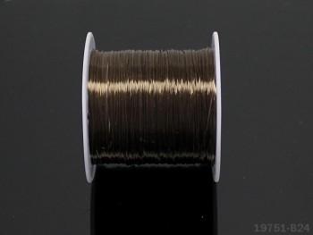 Elastická lycra 0,8mm HNĚDÁ, cívka