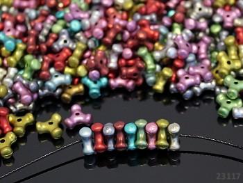 Pestrobarevný MIX korálky farfale 10/10/5 bal. 10g