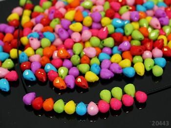 Pestrobarevný MIX korálky brioletky kapky bal. 6g