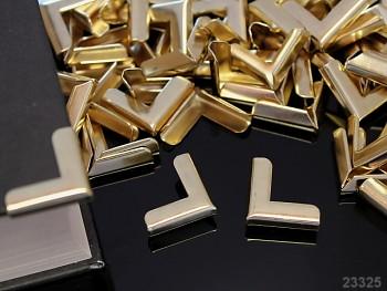 Kovové rohy 19mm platinové, bal. 4ks