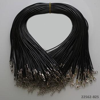 Šňůrka vosk. náhrdelník ČERNÁ, 1ks