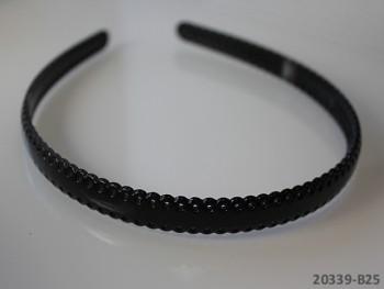 Vlasová čelenka / dírky 12mm ČERNÁ, 1ks