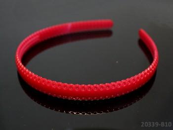 Vlasová čelenka / dírky 12mm červená, 1ks
