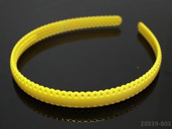 Vlasová čelenka / dírky 12mm ŽLUTÁ, 1ks