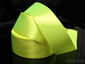 Zelená neon stuha atlasová 38mm saténová stužka zelená neonová