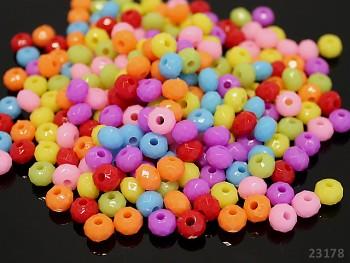 Korálky mini rondelky MIX, bal. 50ks