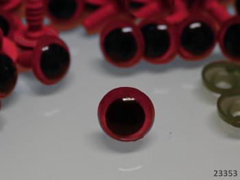 Bezpečnostní oči 12mm ČERVENÉ,  bal. 10ks