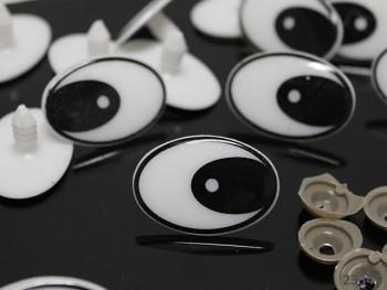 Bezpečnostní oči 35mm oválné,  bal. 4ks