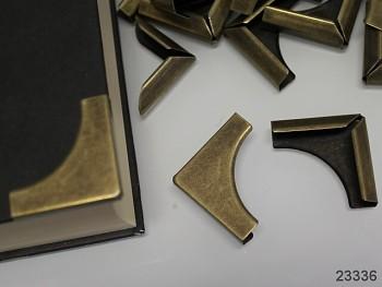 Kovové rohy 32mm bronzové, bal. 4ks