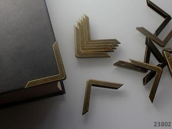 Kovové rohy 30mm bronzové, bal. 4ks