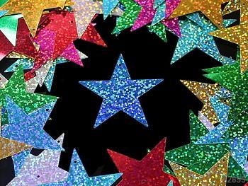 Flitry velké hvězdy hologramové, bal. 20ks