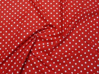Puntíkovaná látka červená 06, á 1m