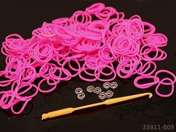 Loom bands gumičky FUCHSIOVÉ, 1sada