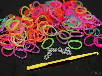 Loom bands gumičky k splétání vroubkované