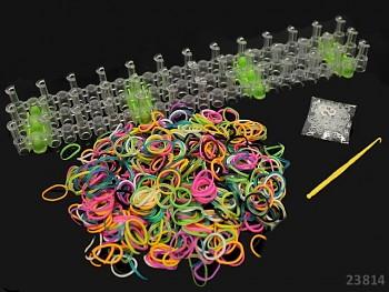 Loom bands gumičky k splétání SADA modrá