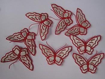 Nažehlovačka motýl PVC červený