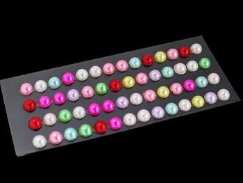 Nalepovací kamínky perličky pestrobarevné, bal. 1karta