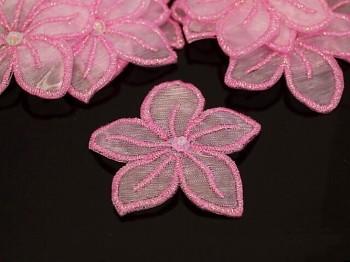 Nažehlovačka kytka růžová