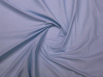 Puntíkovaná látka sv.modrá MIKRO 01, á 1m