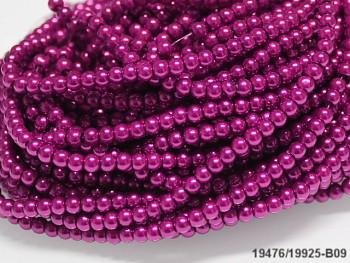 Korálky voskované perly  4mm CYKLÁMOVÉ