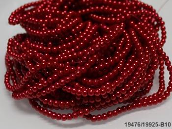 Korálky voskované perly  4mm ČERVENÉ