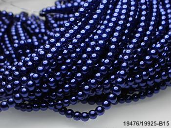 Korálky voskované perly 4mm NIVEA MODRÉ
